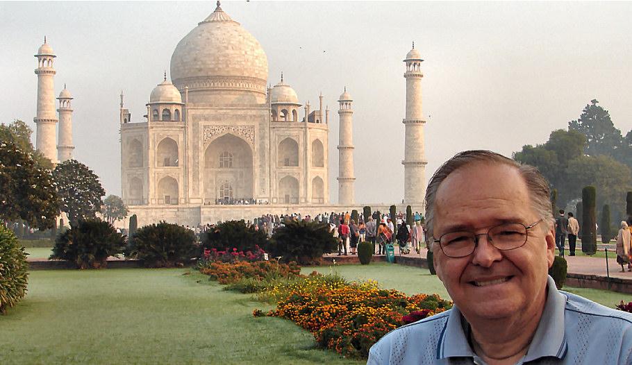 Pascal au Taj Mahal - Inde 2010