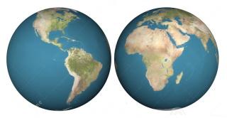 Hemisphères ouest et est